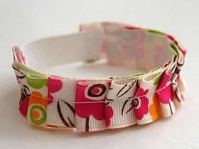 怎么做缎带手链图解 缎带手工制作小清新手链