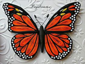 手工衍纸蝴蝶的作品图片 实在是太美了!