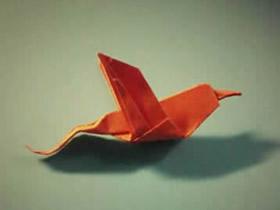 怎么折纸蜂鸟的步骤图 手工蜂鸟的折法过程