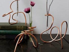 怎么做试管花瓶的方法 金属丝手工制作艺术花瓶