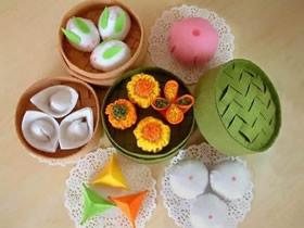 不织布手工制作的水果、点心、蔬菜装饰品图片