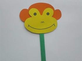 怎么做卡通风格纸扇子 卡纸手工制作猴子扇子