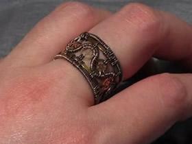怎么做复古风指环图解 金属丝绕线制作戒指