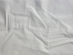 创意立体纸雕作品 仅用一张白纸创作而成!