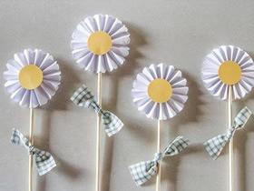 怎么做简单的太阳花 用纸手工制作向日葵图解