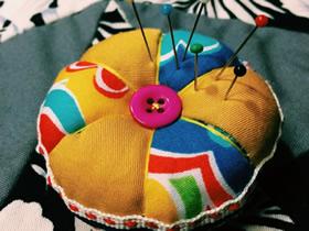 怎么做拼布针插的方法 手工布艺南瓜针插制作