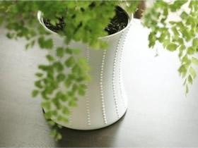 怎么做优雅的玻璃花盆 玻璃瓶制作白色花盆
