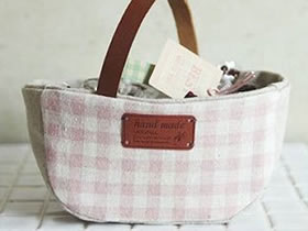 怎么做家用收纳布袋 手工布艺收纳袋制作