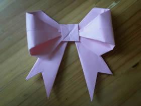 怎么简单折纸蝴蝶结 儿童手工蝴蝶结的折法