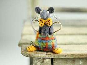 手工羊毛毡动物图片 似乎有治愈人心的效果