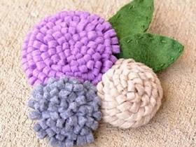 怎么做立体布艺胸花 不织布制作花朵胸花图解
