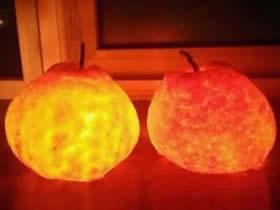 怎么做橘子灯的方法 橘子手工制作小夜灯