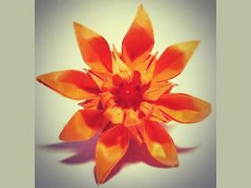 怎么折纸八瓣菊花图解 手工重阳节菊花折法
