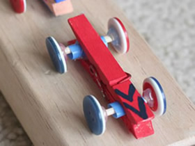 怎么做简单小车的方法 儿童制作木夹子汽车