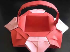 怎么折纸花篮的详细步骤 儿童手工花篮的折法