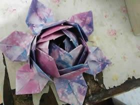 怎么简单折纸立体荷花 彩纸手工制作荷花做法