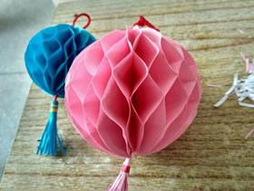 怎么简单做彩球的方法 儿童手工花球制作图解