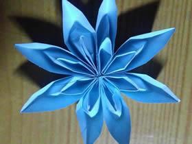 怎么折纸八角花的方法 手工八瓣花的折法图解