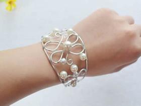 怎么做银线手镯的方法 银线绕线DIY新娘手镯