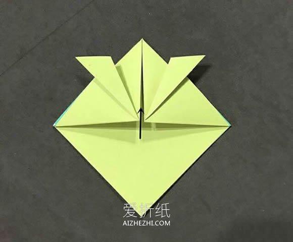 怎么简单折纸金鱼图解 手工小鱼的折法步骤- www.aizhezhi.com