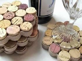 怎么废物利用做杯垫 红酒瓶塞制作六边形杯垫