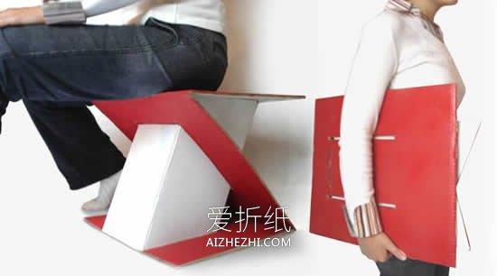 怎么做瓦楞纸椅子的方法 硬纸板制作椅子教程- www.aizhezhi.com