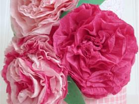 怎么做皱纹纸大花的方法 皱纹纸机缝制作花朵