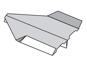 怎么折纸平稳又持久纸飞机的折法图解步骤