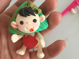 怎么做粘土粽子娃娃 超轻粘土制作端午福娃