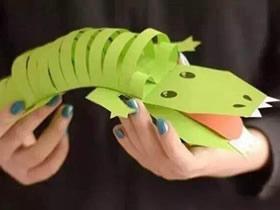 怎么做立体鳄鱼的方法 卡纸手工制作能动鳄鱼