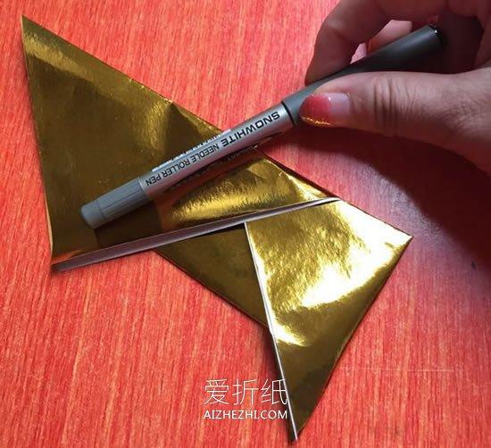 怎么折纸金元宝的方法 简单手工元宝的折法- www.aizhezhi.com