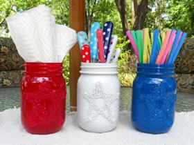 怎么废物利用做笔筒 玻璃瓶简单手工制作笔筒