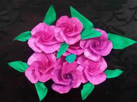 怎么手工折叠玫瑰花简单又漂亮的方法图解