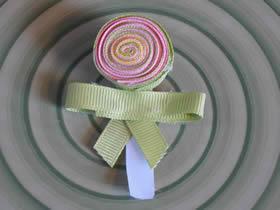 怎么做棒棒糖发夹图解 缎带手工制作可爱发饰
