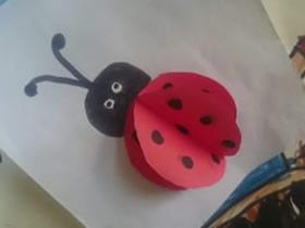 怎么简易做七星瓢虫 儿童手工卡纸制作瓢虫