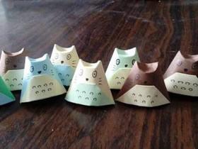 怎么简单折纸龙猫教程 儿童手工立体龙猫折法