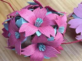 怎么做手工花的方法图解 手工制作花朵的教程
