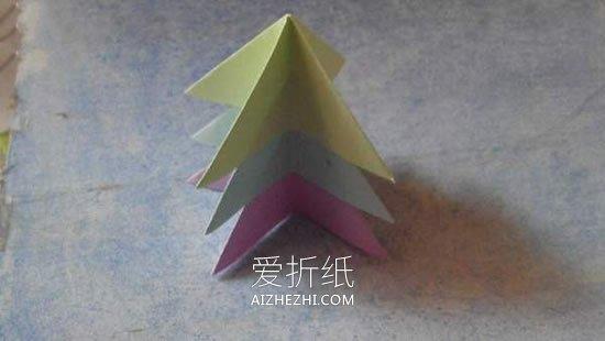 怎么折最简单圣诞树 幼儿手工圣诞树折叠方法_爱折纸网 最新折纸方法