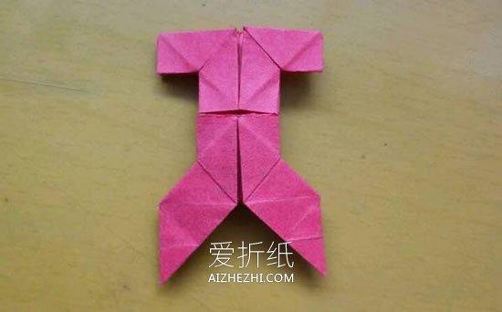 怎么折纸小衣裤的方法 儿童简单衣裤的折法_爱折纸网 最新折纸方法