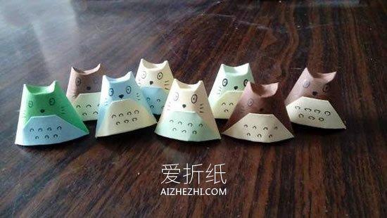 怎么简单折纸龙猫教程 儿童手工立体龙猫折法_爱折纸网 最新折纸方法