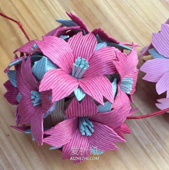 怎么做手工花的方法图解 手工制作花朵的教程_爱折纸网 最新折纸方法