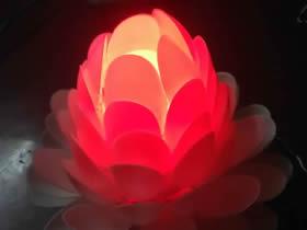 怎么做母亲节礼物花灯 塑料勺手工制作莲花灯