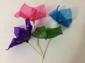 怎么简单做玻璃纸花 玻璃纸手工制作花朵图解