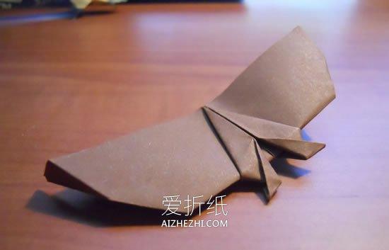 怎么简单折纸蝙蝠飞机 手工可以飞的蝙蝠折法_爱折纸网 最新折纸方法