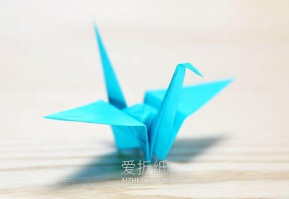 怎么折纸鹤的详细图解 零基础千纸鹤折法教程_爱折纸网 最新折纸方法