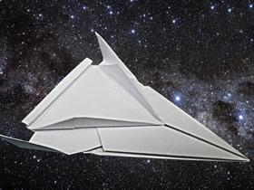 怎么折纸太空飞船图解 手工详细太空船的折法