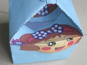 怎么打印制作方形礼品盒 用纸制作便当的方法