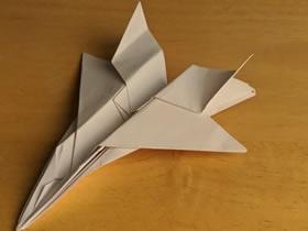 怎么折纸F-15战斗机 手工F15战机的折法图解