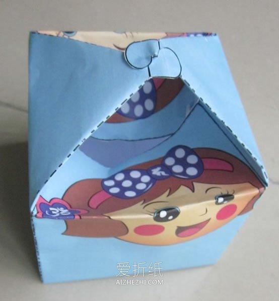 怎么打印制作方形礼品盒 用纸制作便当的方法_爱折纸网 最新折纸方法