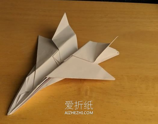 怎么折纸F-15战斗机 手工F15战机的折法图解_爱折纸网 最新折纸方法